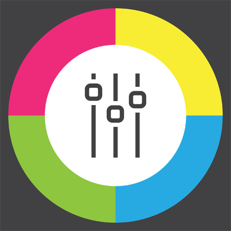 volume control: Sliders sign line vector icon. Settings vector icon. UI control media sound symbol. Illustration