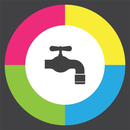 leak: Faucet vector icon. Tap sign. Bathroom symbol