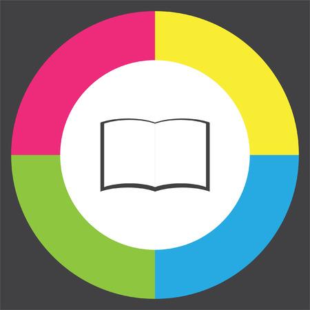Open book vector icon. Education symbol.