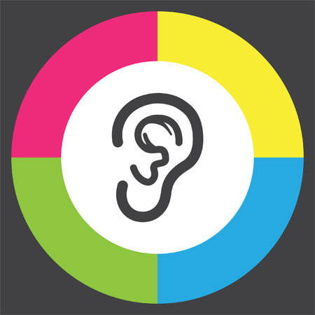 hands free: Ear vector icon. Hands free sign. Hearing symbol Illustration