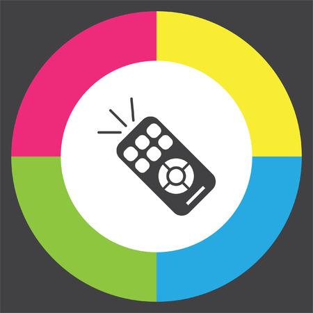 tv remote: TV remote vector icon. RC controller sign. Television symbol Illustration