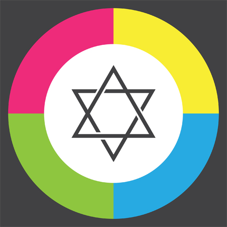Star of David sign vector icon Illustration