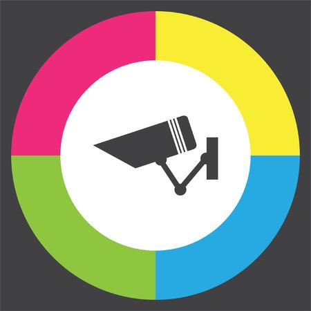 Security camera sign vector icon. Video monitoring icon. Camera cctv sign. Surveillance symbol.