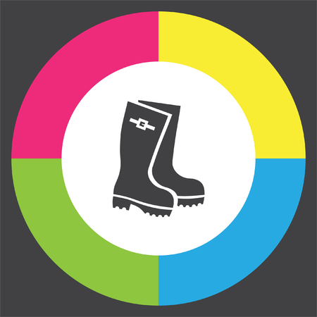gumboots: Rain boots vector icon. Rubber footwear sign. Gumboots symbol