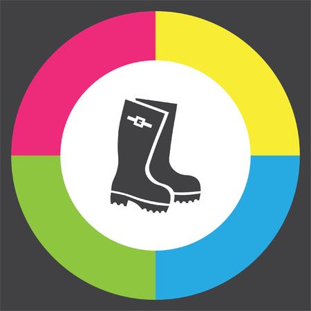 gumboots: Rain boots vector icon. Rubber footwear sign. Gumboots symbol