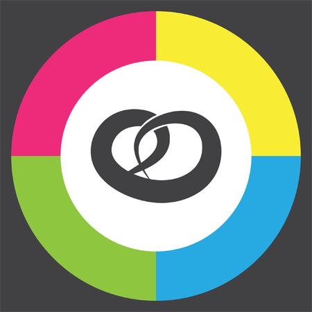 octoberfest: Pretzel del icono del vector. signo de aperitivos salados. símbolo de panadería Vectores
