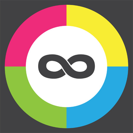 endless: Infinity sign vector icon. Endless sign icon. Illustration