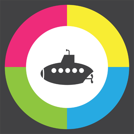 Submarine vector icon. Periscope sign. Water exploration symbol