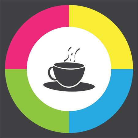Coffee Cup vector icon. Hot drink sign. Tea cup symbol. Illustration