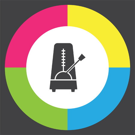 Metronome vector icon. Rhythm machine sign. Tempo meter symbol Illustration