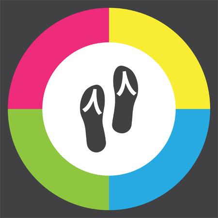 Flip flops vector icon. Beach shoes sign