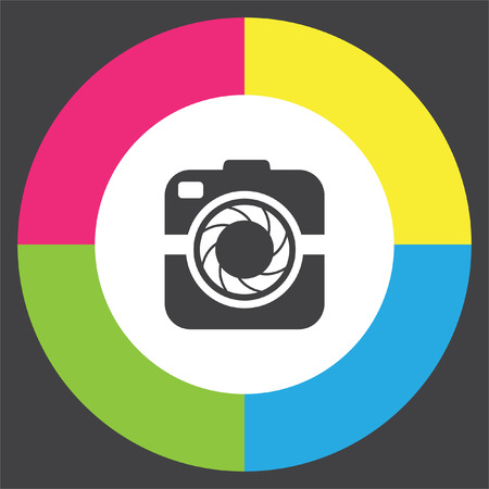 Camera vector icon. Digital photography sign. Picture symbol.