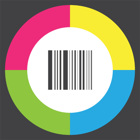 Bar Code vector icon. Digital price label sign. Shopping symbol.