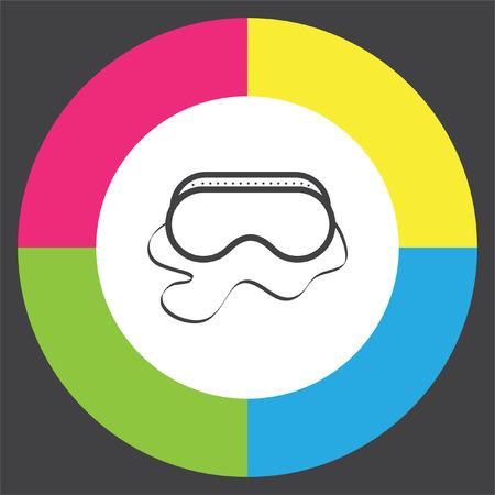 protective mask: Safety work glasses vector icon. Construction eye protection sign. Protective mask symbol