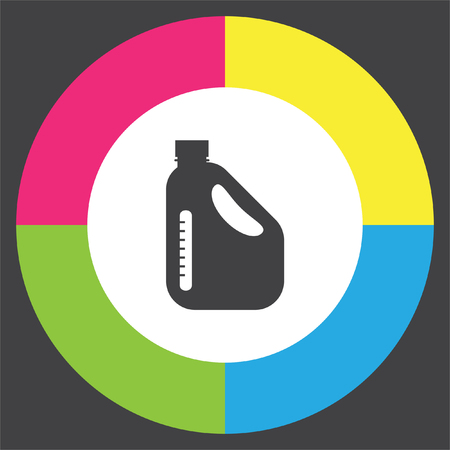 benzine: Jerrycan Oil Can vector icon. Petrol container sign. Fuel can symbol Illustration