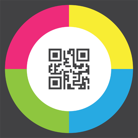 QR code vector icon. Computer business symbol