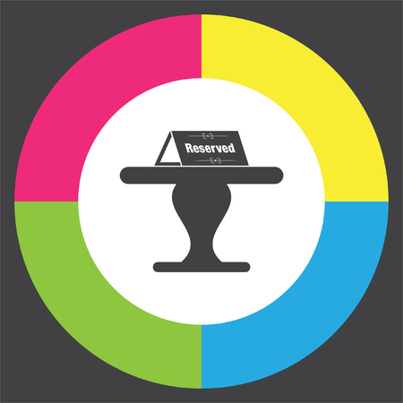 reservations: Reserved table vector icon. Reservation sign