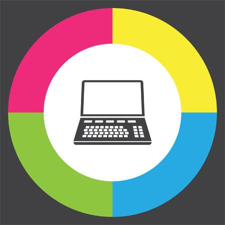 Lap top vector icon. Computer sign. Personal computer symbol Illustration