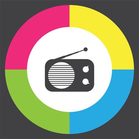 fm: Radio vector icon. Music sign. Sound symbol Illustration