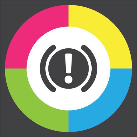 car brake: Car Parking Brake Signal vector icon. Attention symbol. Illustration