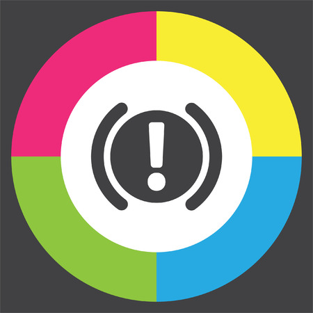 Car Parking Brake Signal vector icon. Attention symbol. Illustration