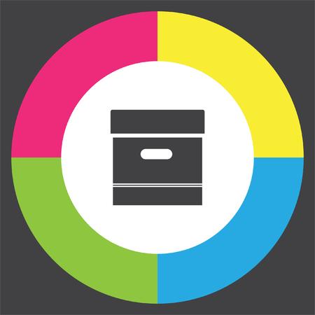 Archive box sign vector icon. Office symbol. Storage organization sign. Illustration