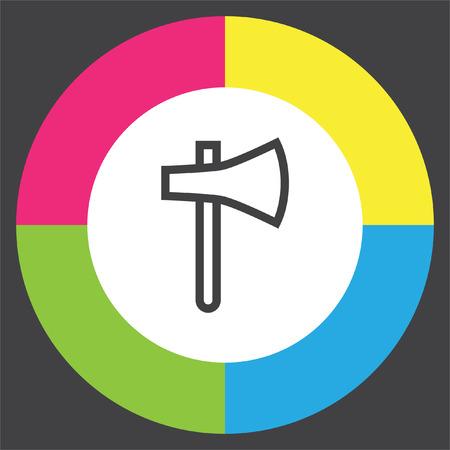 hatchet: Axe sign line vector icon. hatchet sign line icon. Illustration