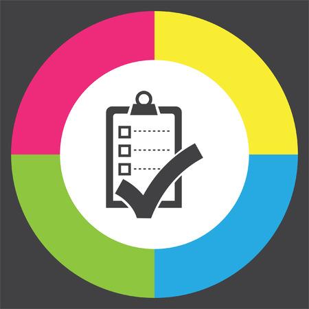 clip board: Check list with ok sign vector icon. Clip board with ok sign.