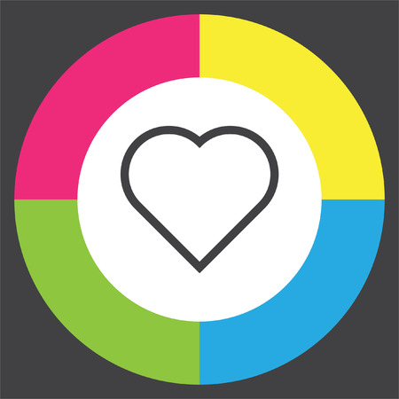 Heart sign line vector icon. Love sign. Life symbol