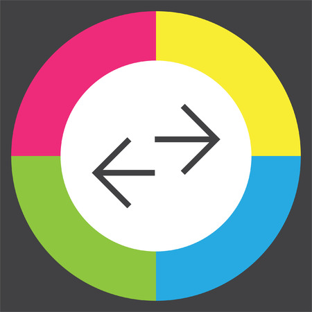 Arrows exchange sign line vector icon. Direction sign line icon. Illustration