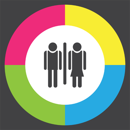 Man and woman toilet vector icon. Restroom sign. Water closet symbol Illustration