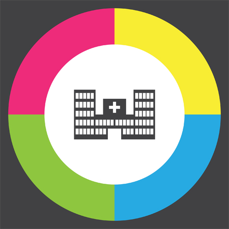 Hospital vector icon. First aid pictograph. Emergency symbol
