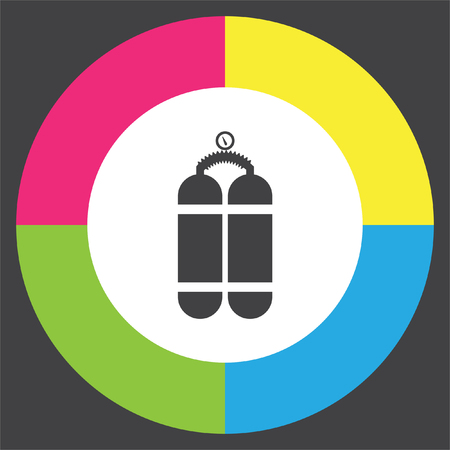 Oxygen cylinder vector icon. Diving equipment symbol