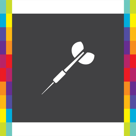 Dart vector icon. Competition sign. Tournament symbol