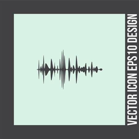 amplifiers: Audio signal vector icon. Sound icon. Music symbol.