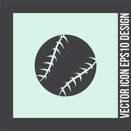 hardball: Baseball vector icon. Sport competition sign. American team game symbol.