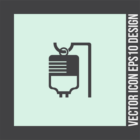infusion: IV bag medical vector icon. Infusion sign