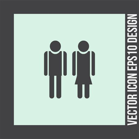 woman male: Man and woman vector icon. Male and female sign. Couple symbol Illustration
