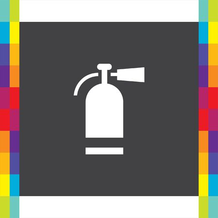 Fire extinguisher vector icon. Firefighting equipment sign. Flame prevention tool Illustration