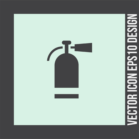extinguish: Fire extinguisher vector icon. Firefighting equipment sign. Flame prevention tool Illustration