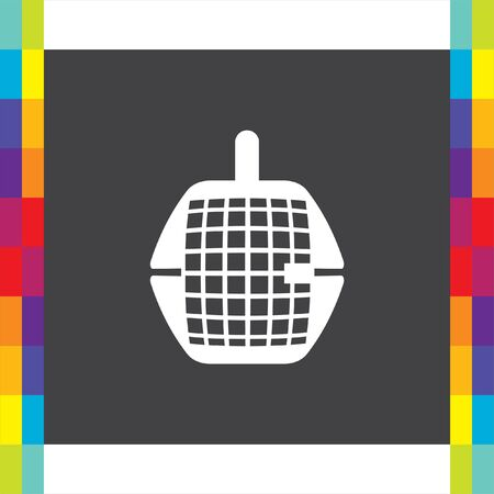 animal trap: Pet transport cage vector icon. Dog or cat box sign. Animal cage trap symbol