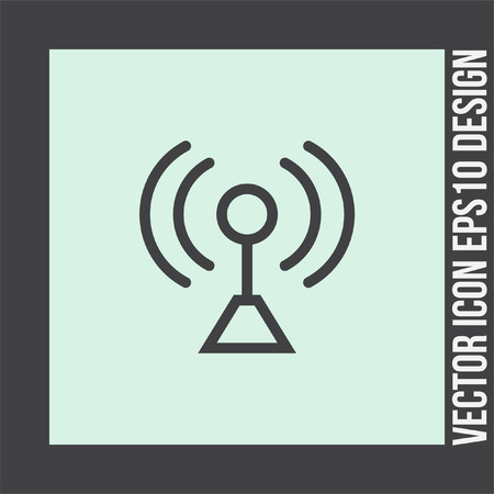 strenght: Signal strength sign line vector icon. Wi Fi signal vector icon. Wireless connection symbol. Illustration
