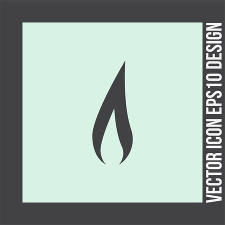 flammable: Flame vector icon. Fire symbol. Flammable sign