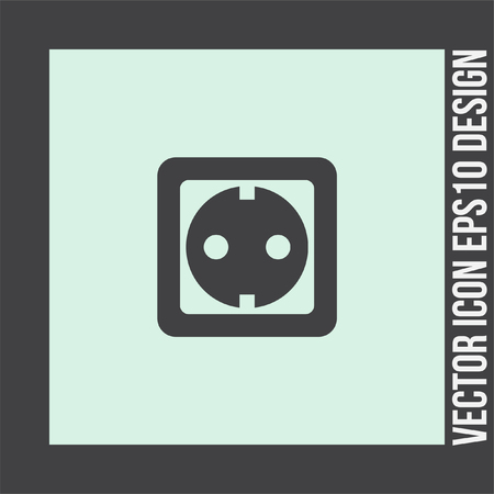 wattage: Power socket vector icon. Electric outlet sign. Power plug symbol Illustration