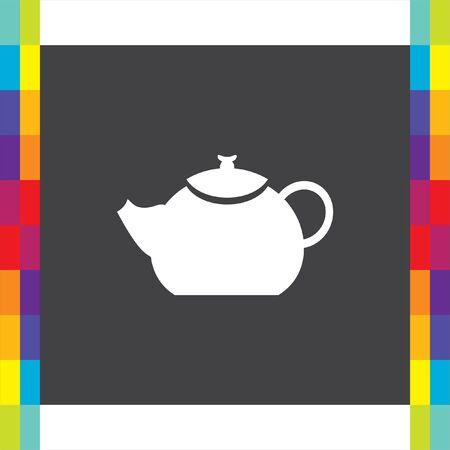 creamer: Teapot vector icon. Hot drink sign. Kitchen kettle symbol
