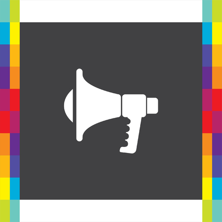 proclaim: Megaphone vector icon. Loudspeaker sign. Bullhorn symbol
