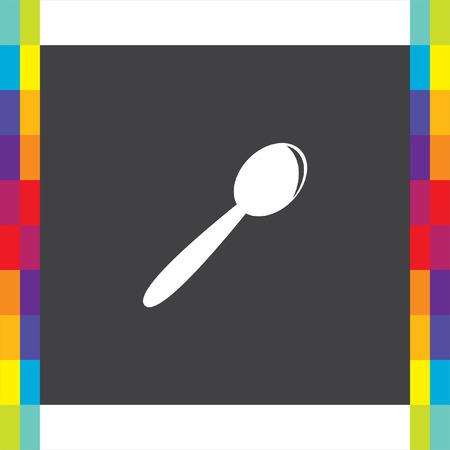 teaspoon: Spoon vector icon. Teaspoon sign. Kitchen silverware symbol