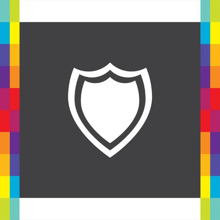 Shield sig vector icon. Protection symbol vector icon. Royal defense symbol.