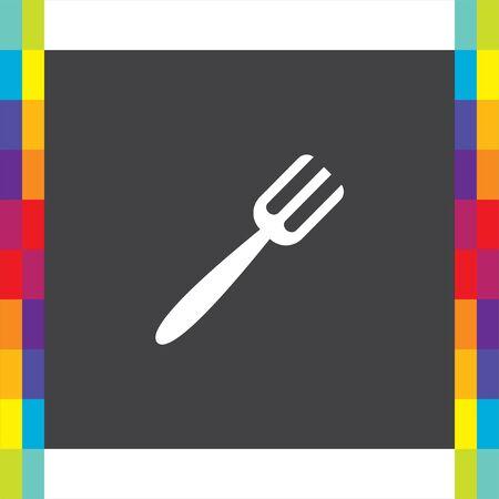 diner: Fork vector icon. Diner sign. Lunch symbol