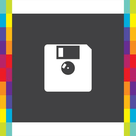 Diskette vector icon. Floppy disk sign. Memory storage symbol
